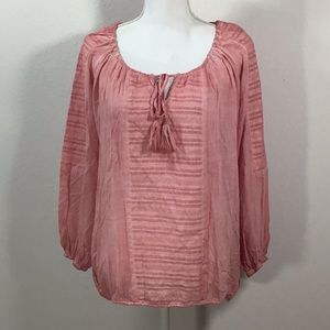 1f810528d40f8 Floryday Pink Boho Blouse Size Small NWT